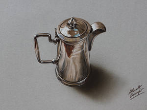 Silver pitcher DRAWING Marcello Barenghi