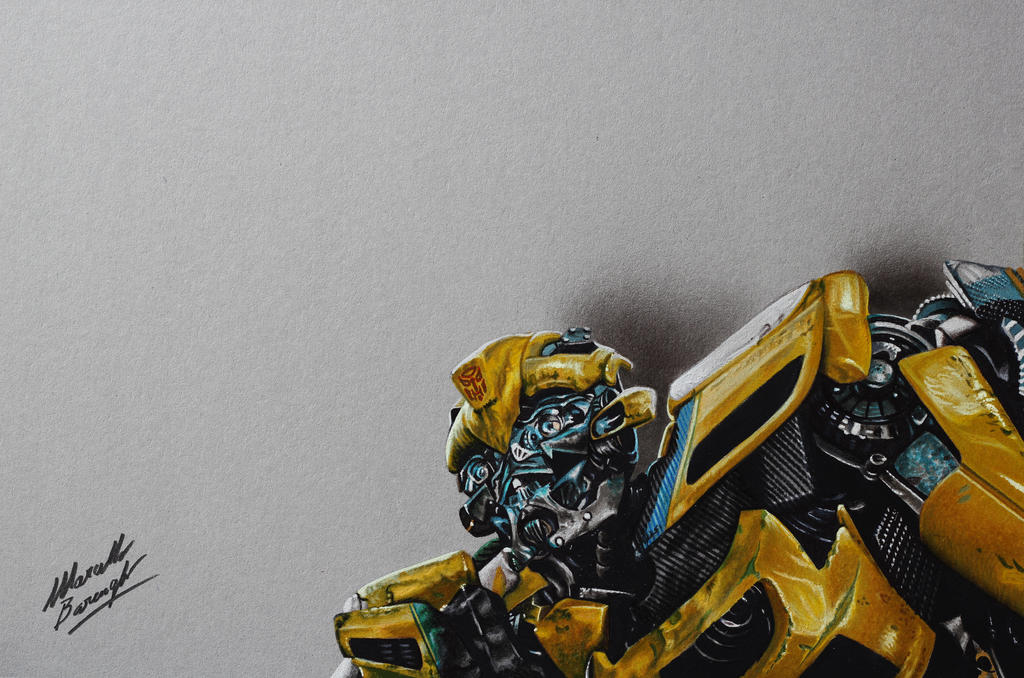 Bumblebee DRAWING by Marcello Barenghi by marcellobarenghi