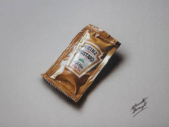 Heinz Mustard Sachet DRAWING by Marcello Barenghi by marcellobarenghi