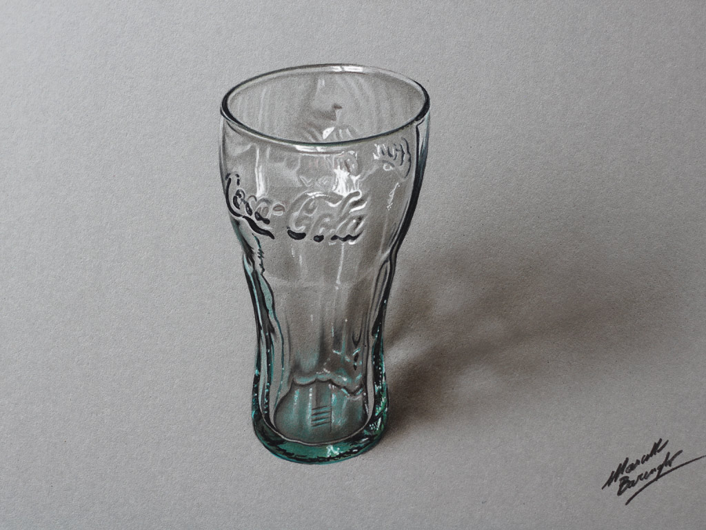 Coca-Cola Green Glass DRAWING by Marcello Barenghi by ...