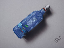 Vodka Khortytsa Ice DRAWING by Marcello Barenghi by marcellobarenghi