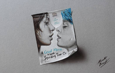 Blue is the Warmest Color Movie Poster DRAWING
