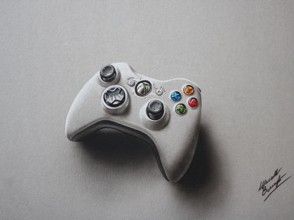 Xbox Live Drawing : Controller xbox joypad drawing marcello barenghi by