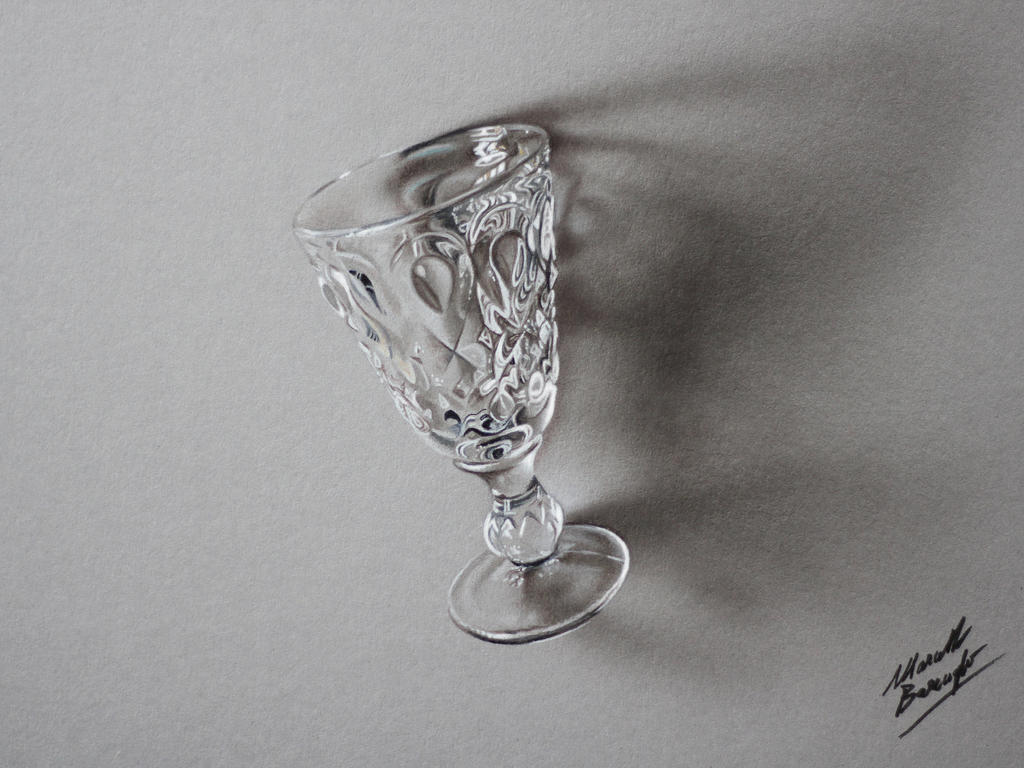Absinthe Glass Drawing By Marcello Barenghi By