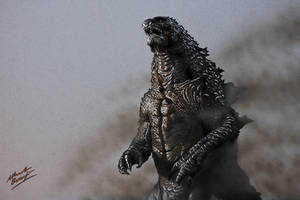 Godzilla DRAWING by Marcello Barenghi by marcellobarenghi