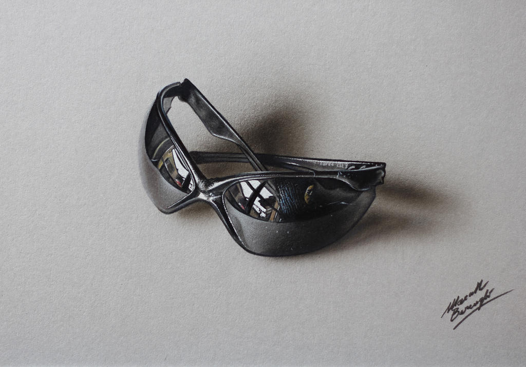 Customized sunglasses DRAWING by Marcello Barenghi