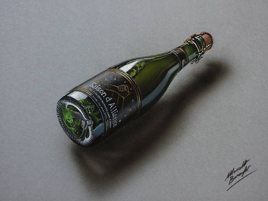 Saison d'Alliance beer DRAWING