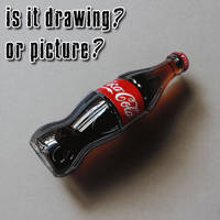 Coke bottle DRAWING by Marcello Barenghi
