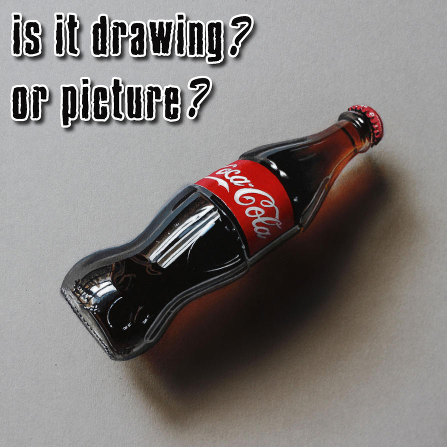 how to draw a 3d bottel