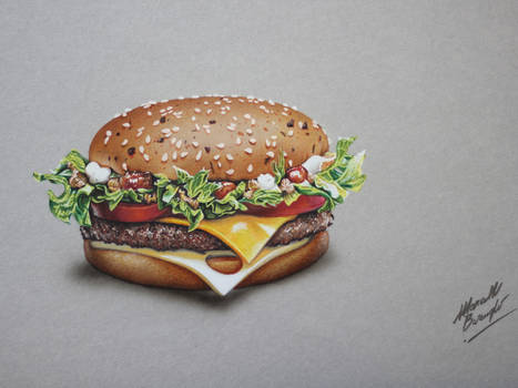 Burger 4 of 5 DRAWING by Marcello Barenghi