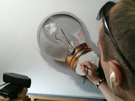 WIP: Light Bulb Painting by marcellobarenghi