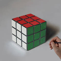 Rubik's Cube PAINTING by Marcello Barenghi by marcellobarenghi