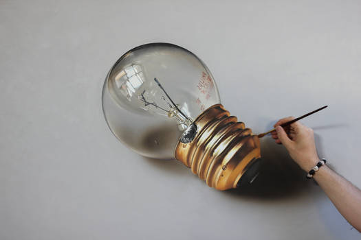 Ligh Bulb PAINTING on canvas by Marcello Barenghi