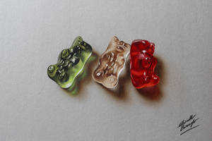 Gummy Bears Drawing by marcellobarenghi