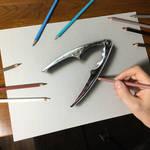 My drawing of a steel nutcracker