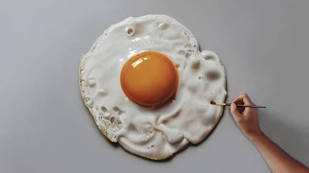Fried Egg Painting