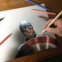 Captain America drawing by marcellobarenghi