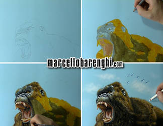 Drawing Kong Skull Island by marcellobarenghi