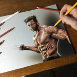 My portrait of Hugh Jackman as Wolverine