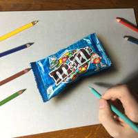 Drawing Blue Pop Candies by marcellobarenghi