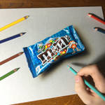 Drawing Blue Pop Candies