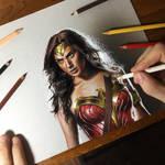 Gal Gadot as Wonder Woman Portrait