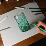 Drawing Coca-Cola Green Glass