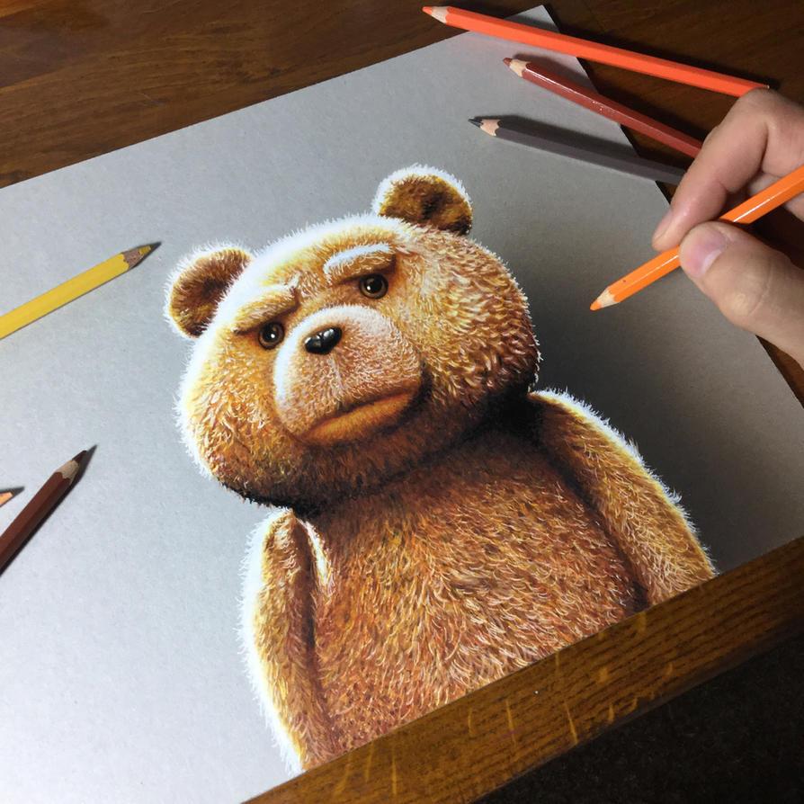how to draw a 3d teddy bear