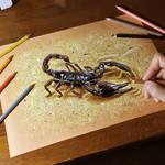 Drawing a scorpion