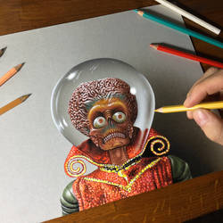 Portrait of the Martian Leader from Mars Attacks