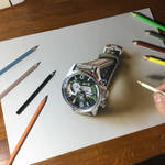 My drawing of the AV-4056 watch from AVI-8