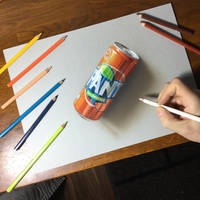Drawing Fanta by marcellobarenghi