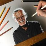 Stan Lee Portrait by marcellobarenghi