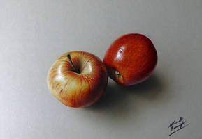 3D drawing - apples