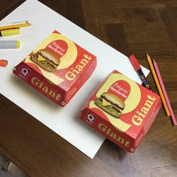 Challenge: draw box to trick people at fast food