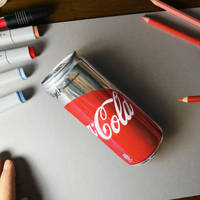 DRAWING Coca-Cola by marcellobarenghi