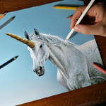 UNICORNS are REAL, this is a drawing from life