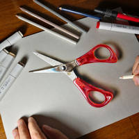 Drawing scissors by marcellobarenghi
