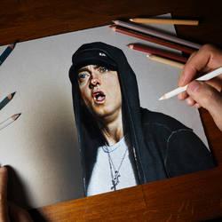 Eminem Portrait by marcellobarenghi