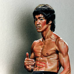 Drawing Bruce Lee by marcellobarenghi