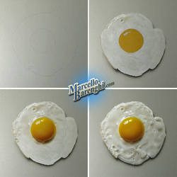 My new drawing of a fried egg