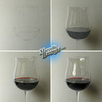 My drawing of a glass of wine