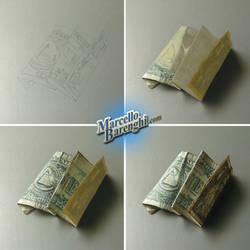 My drawing of a dollar bill