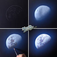 My drawing of the Moon