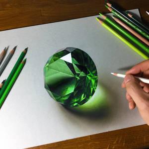 Drawing emerald