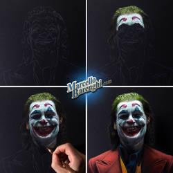 Drawing Joaquin Phoenix as Joker