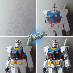 My drawing of Gundam