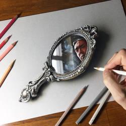 Self-portrait in the mirror