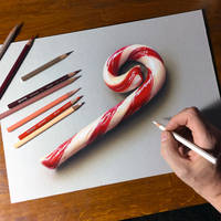 Merry Christmas!!! Candy Cane Drawing.