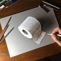 Quarantine day 32: draw a toilet paper roll